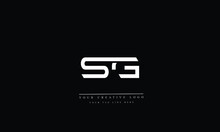SG, GS, S, G, Letter Logo Design With Creative Modern Trendy Typography