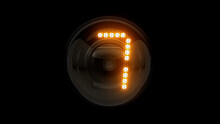 Seven. Digit 7. Nixie Tube Indicator Digit. Gas Discharge Indicators And Lamps. 3D. 3D Rendering