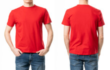 Red T Shirt On A White Background Isolated For Design