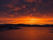 Mamantus Clouds Over Wildhorse Reservoir, NV