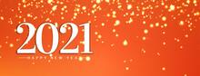 Happy New Year 2021 Bright Glitters Banner Design