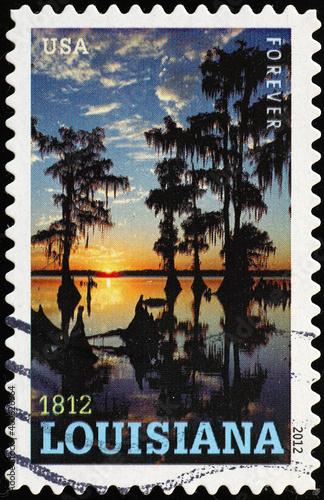 Платно Louisiana swamps celebrated on american postage stamp