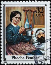 Phoebe Pember On American Postage Stamp