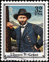 Union General Ulysses S.Grant On American Stamp