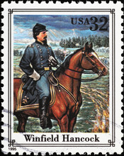 Union General Winfield Hancock On American Stamp