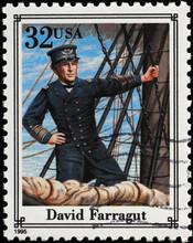 Union Navy Officer David Ferragut On American Stamp