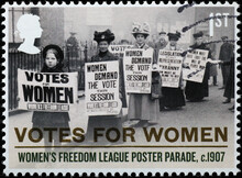 Women Demanding The Vote In 1907 On British Sta