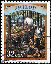 Battle Of Shiloh On American Postage Stamp