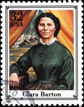 Clara Barton On American Postage Stamp