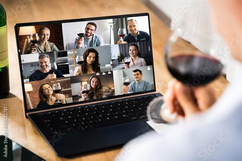 Fotografia Virtual Wine Tasting