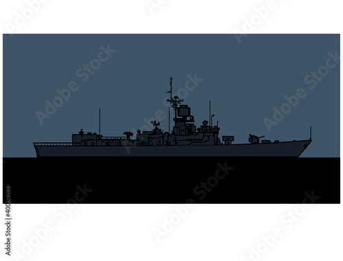 Canvas Print US Navy Brooke class guided missile frigate