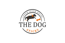 Pet Shop Logo Dog Vector Labrador Retriever. Animal Logo Design, Dog Toy Product Logo.