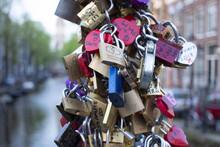 Metal Locks On The Bridge Of Love.