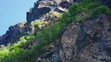 A Peculiar Rock Formation Resembling A Skull On The Cliffs Of The Geiranger Fjord, Norway. Is It Just A Coincidence, Or Is It A Troll Frozen In Stone By The Rising Sun Hundreds Of Years Ago?
