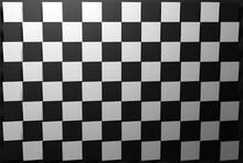 3D Illustration Black And White Checkered Geometric Pattern Of Pyramids. Classic Chessboard. Decorative Print, Pattern. Square Volumetric Print