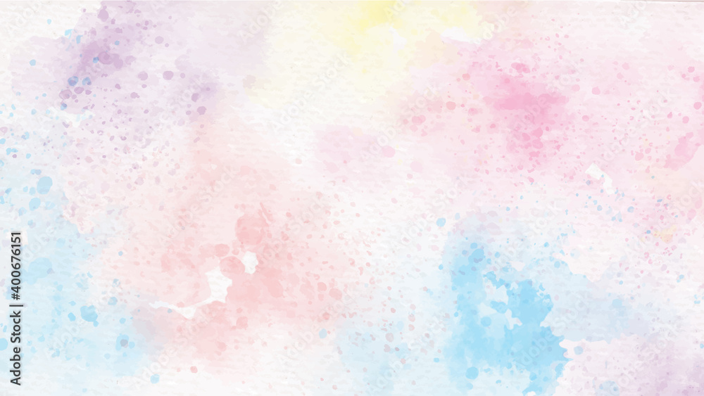 Fototapeta rainbow pastel unicorn candy watercolor on paper abstract background