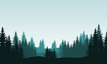 Nice Nature Scenery On The City Edge. City Vector