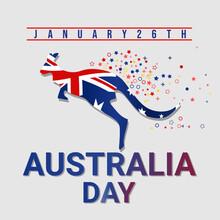 Australia Day Vector. Vector Illustration Australian Flags.
