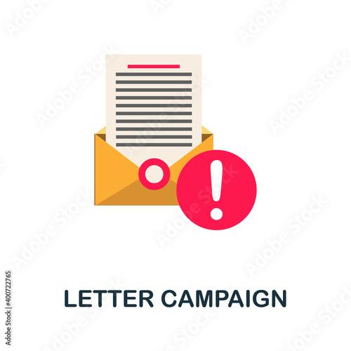 Tela Letter Campaign flat icon