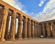 Luxor Temple Pillars In Egypt