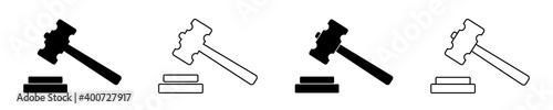 Fototapeta Icon of gavel