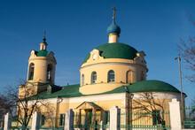 Nikolskaya Church In The Village Of Ermolino, Bell Tower, Winter, Moscow Region