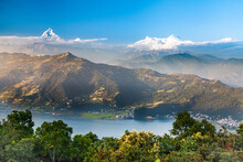 Phewa Lake In Pokhara, Nepal