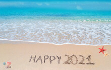 Happy 2021 On The Beach
