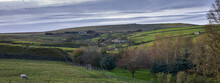 Looking West Along Moorhouses Valley In Nidderdale