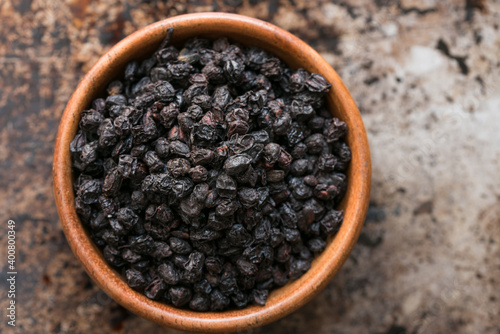 Fotografie, Obraz European Elderberries in a Bowl