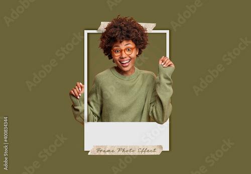 Obraz Instant Photo Effect Mockup - fototapety do salonu