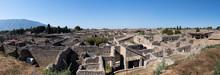 Italy, Campania, Pompeii, Ruins Of Ancient Roman City