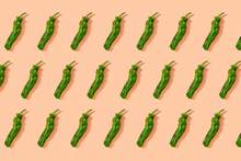 Pattern Of Green Chili Peppers
