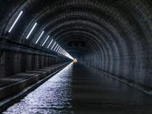 Inside Of Mont-de-Billy Tunnel On Canal De LAisne A La Marne