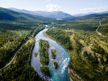 River Flowing Through Jotunheimen National Park, Norway