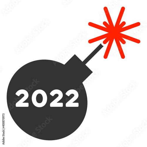 Fotografie, Obraz Vector 2022 petard illustration