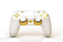 White And Gold Colored DualShock 4 Controller