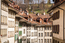 View Of Houses With Windows Seen In Switzerland