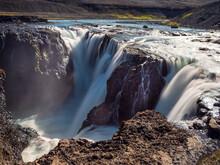 Long Exposure Of Sigoldufoss Waterfall