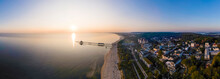 Germany, Usedom, Seaside Resort And Beach, Aerial View