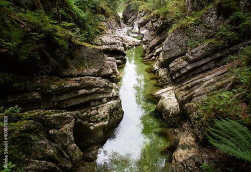 Rettenbach river flowing in Salzkammergut