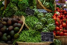 Fresh Vegetables Sold At Market