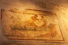 Fresco On Old Stone Wall