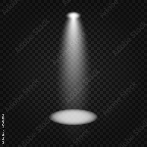Fototapeta Scene illumination collection, transparent effects. Bright lighting with spotlights. obraz na płótnie