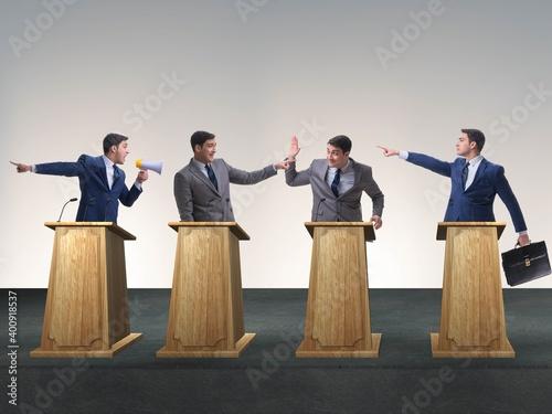 Photo Politicians participating in political debate