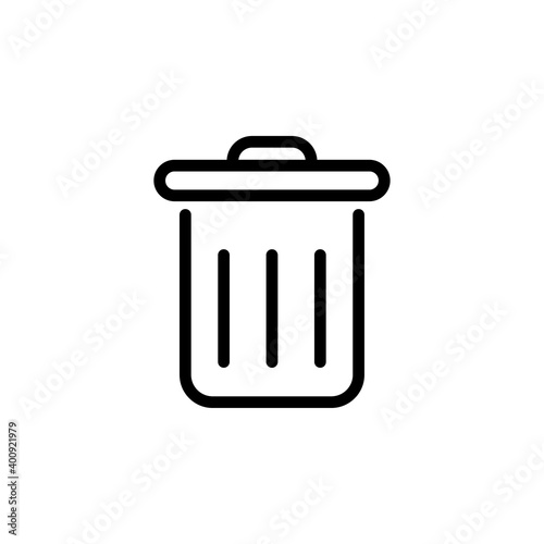 Fototapety, obrazy: trash can icon design template. Trendy style, vector eps 10