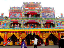 Kaohsiung, Taiwan, December 15, 2020: Chinese Altars And Taoist Special Dedications Are Held Every Twelve Years.