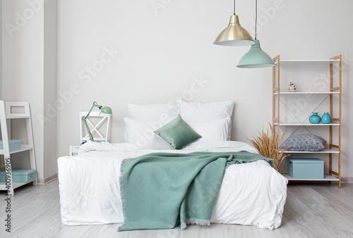 Stylish interior of modern bedroom Tapéta, Fotótapéta