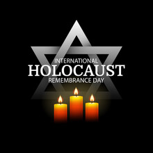 Vector Illustration Of International Holocaust Remembrance Day