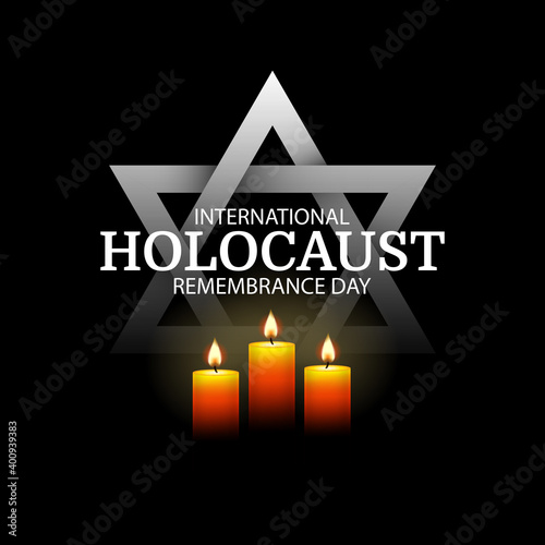 Fototapeta Vector Illustration of International holocaust remembrance day